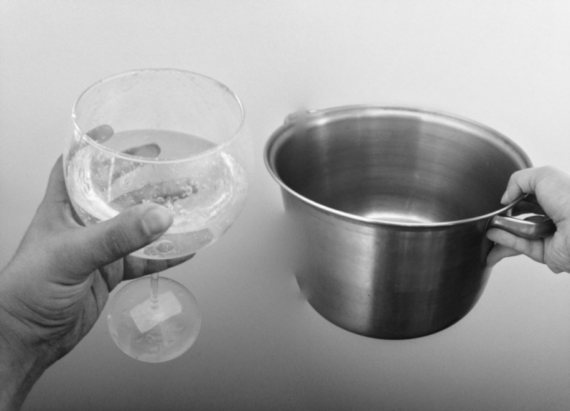 PISS POT with CRYSTAL GLASSES | JULES GIMBRONE 2